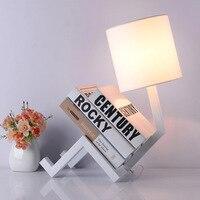 LUNICOO LED Table Lamps Creative Bedroom Bedside Lamp Bookshelf Modern Simple Eye Protection Night Light Lampara