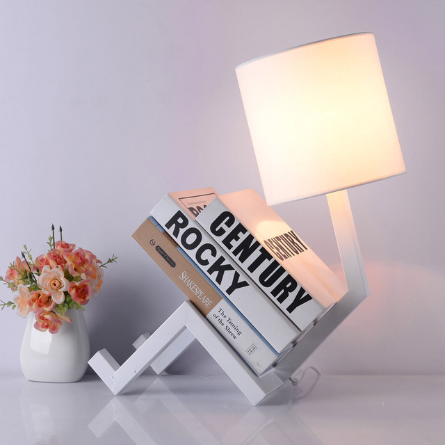 NOOSION LED Table Lamps Creative Bedroom Bedside Lamp Bookshelf Modern Simple Eye Protection Night Light Lampara