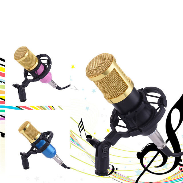 BM-800 Condenser Microphone Studio Sound Vocal Recording Microphone Broadcast And Studio Radio Microphones + Shock Mount Holder