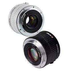 Viltrox C-AF 2X automatyczne ustawianie ostrości telekonwerter 2.0X Extender teleobiektyw obiektywy do aparatu Canon EF mocowanie obiektywu lustrzanka cyfrowa