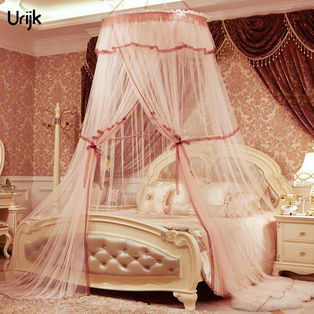 Urijk 1PC Romantic Princess Luxury Mosquito Net Insect Bed Canopy Netting Lace Round Mosquito Nets Hung & Urijk 1PC Romantic Princess Luxury Mosquito Net Insect Bed Canopy ...