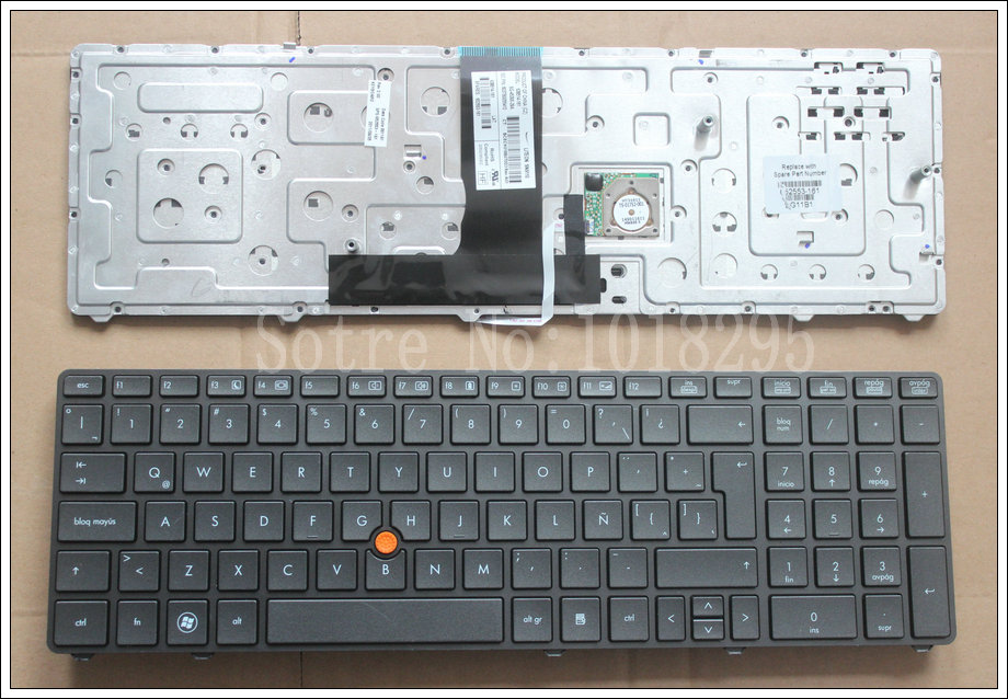 New Latin Laptop Keyboard for HP EliteBook 8760p 8760w 8770p 8770w LA black Keyboard with Frame 628514-161 SG-45300-29A laptop keyboard for lg 15n540 sn5840 sg 59030 40a sn5840 sg 59030 xra black without frame korea kr br brazil