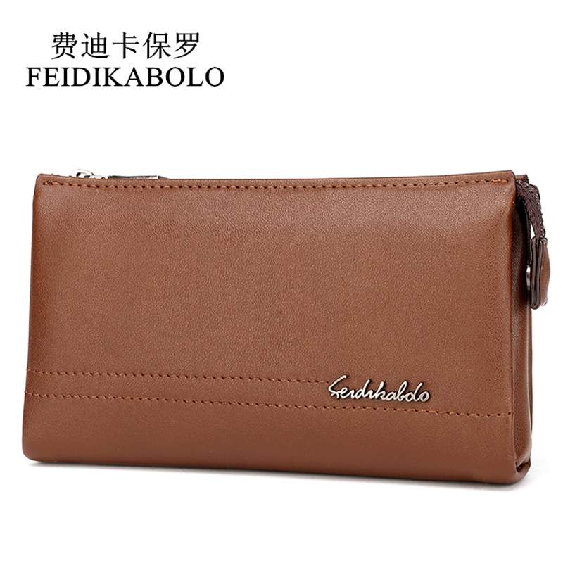 FEIDIKABOLO Top Brand Male Handy Bags Wallet Clutch Men's Wallets Business Carteras Mujer High Quality Leather Men Purse Zipper fd bolo brand wallet men leather wallets aligator handy bags coin purse monederos carteras hombre mens wallets man clutch bags