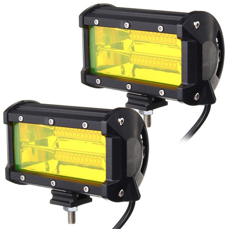2PCS Waterproof 5inch 72W LED Work Light For Driving Fog Lamp Offroad Truck SUV
