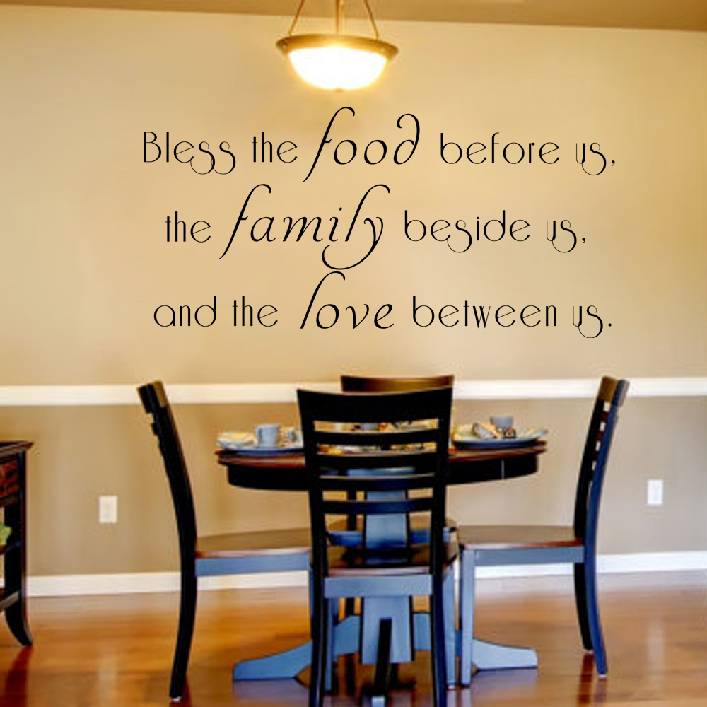 Bless The Food Before Us Wall Decal Dining Room Vinyl Lettering Prayer Wall  Decal Kitchen Wall Decal 27.9cm X 55.9cm In Wall Stickers From Home U0026  Garden On ...
