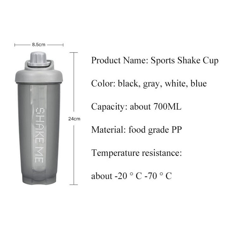 Sports Shaker for Protein Mixer Whey Water Bottle Powder Nutrition Vortex Dust Cup Stirrer Fitness Cup Portable Plastic Stir in Shaker Bottles from Home Garden