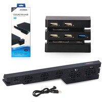 DOBE Set PS4 Pro Cooling Fan USB External 5 Cooler Super Turbo PS4 Pro USB HUB 3.0 2.0 5 USB Ports Adapter For Playstation 4 Pro