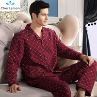 Fashion Autumn Men Pajamas Home Clothing Long Sleeve Warm Winter Pyjamas Sleepwear Male Thicken Cotton Sleep