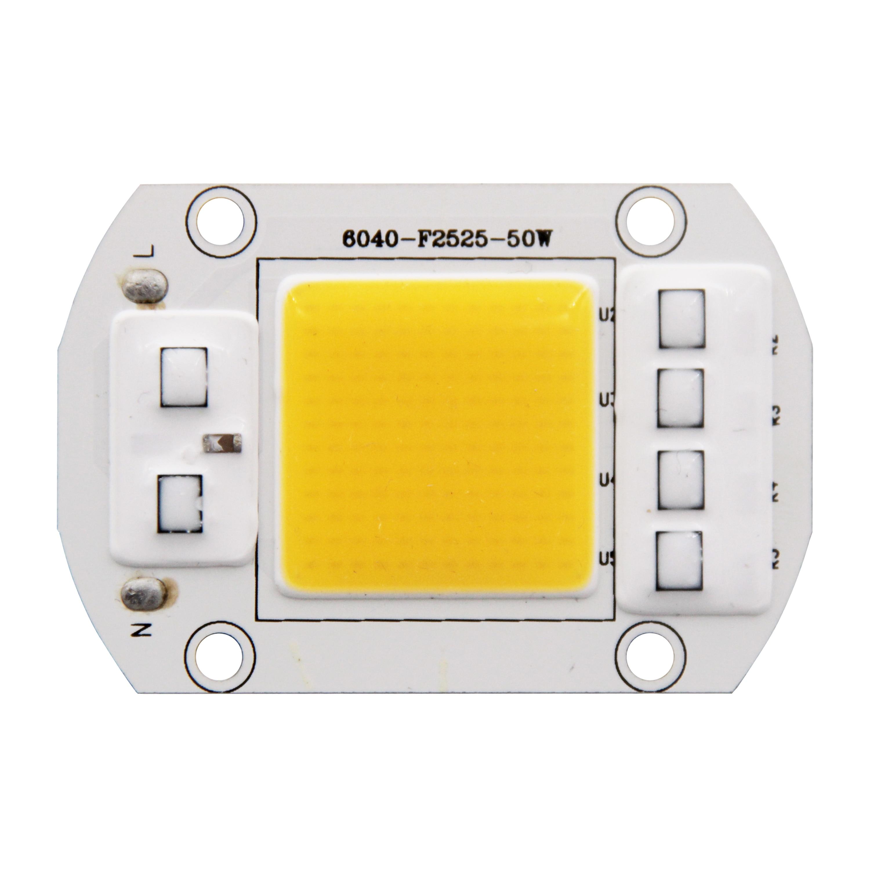 Купить с кэшбэком Driverless AC 220V 110V 20W 30W 50W high power led cob warm white full spectrum 380-840nm flood light plant grow COB LED Strip