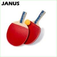 6 star Table Tennis Racket With Rubber Short Handle PingPong Racket Paddle Bat Long Handle Defensive