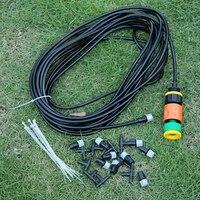15m 4 7 Spray Irrigation System Outdoor Garden Patio Irrigation Misting Cooling System Nozzle Sprinkler Garden