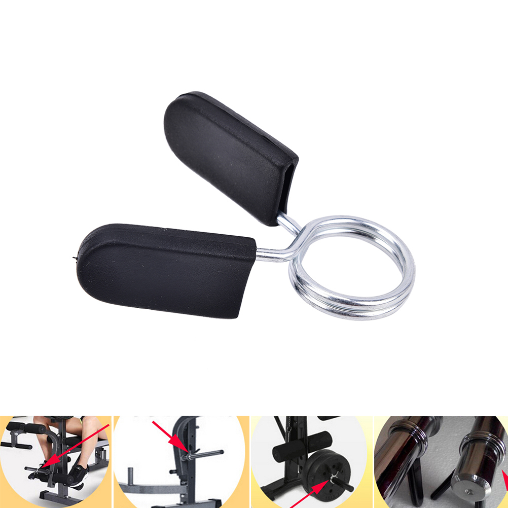 1X 25mm Spinlock Collars Barbell Collar Lock Dumbell Clips Clamp Weight lifting Bar Gym Dumbbell font