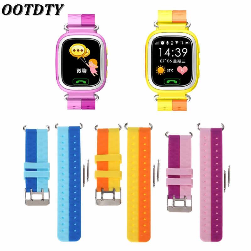 OOTDTY Silicone Wrist Watch Band Bracelet For Children GPS Smart Watch Series 1 2 Strap