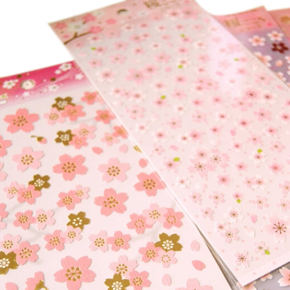 Folha de estilo Japão sakura flor de cerejeira oriental 1 Adesivo PVC material diário scrapbooking mascaramento adesivo Memo Pad Adesivos