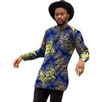Africa Print Mens Long Sleeve T Shirt Fashion African T Shirt Man Dashiki Clothes Customized Festival