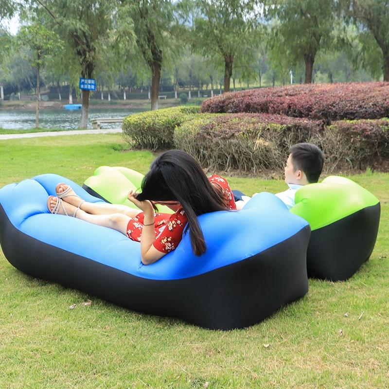 Rapide Gonflable Laybag Air Sac de Couchage Camping Portable Air Canapé Lit De Plage Air Hamac Nylon Paresseux Sac Transat