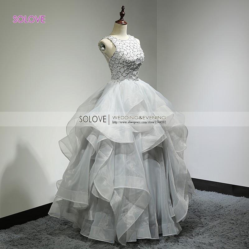 Tiered Spaghetti Strap Backless Elegant Puffy Prom Klänning Organza - Särskilda tillfällen klänningar - Foto 3