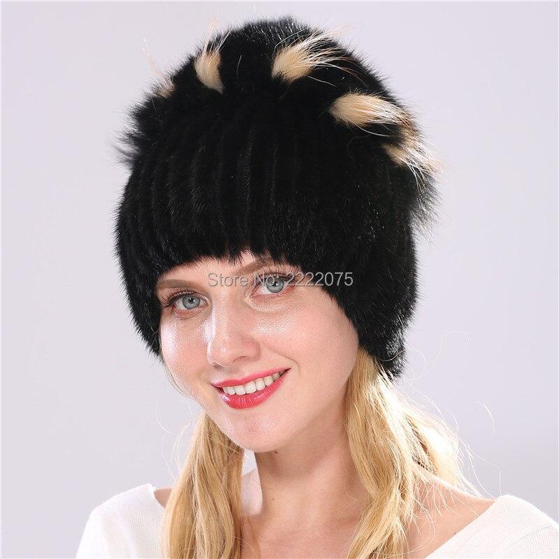 Estremamente Caldo alla moda reale del visone cappello tessuto testa con grande  HM29