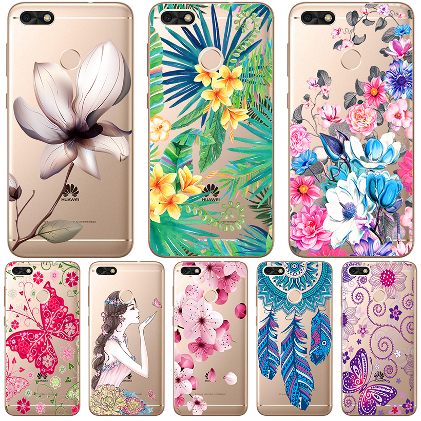 Phone Cases For Huawei P20 Pro P10 Lite P9 Plus Honor Play Case For Huawei Nova 3E Cover Transparent Painted Silicone Soft TPU