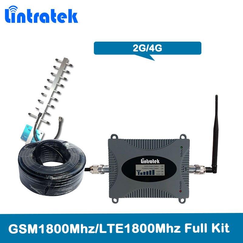 Lintratek 4g LTE 1800 mhz Répéteur de signal de Bande 3 GSM Amplificateur Cellulaire GSM 1800 Propulseur de Signal de Téléphone portable de 2g DCS 1800 mhz Kit