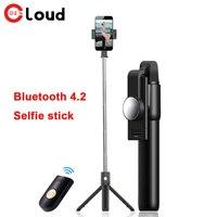 Беспроводная Bluetooth селфи с одной кнопкой управления палка для фото селфи может растянуть длину головы автоспуска можно повернуть