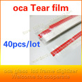 40pcs/set oca adhesive easy to tear paste, tear strength protective film , LCD screen repair supplies,