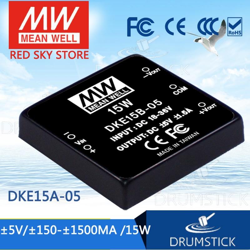 цена на Advantages MEAN WELL DKE15A-05 5V 1500mA meanwell DKE15 5V 15W DC-DC Regulated Dual Output Converter
