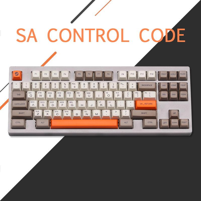 PBT Sa Control code keycaps set sa profile Dye Sub Keycap Set thick PBT plastic keyboard