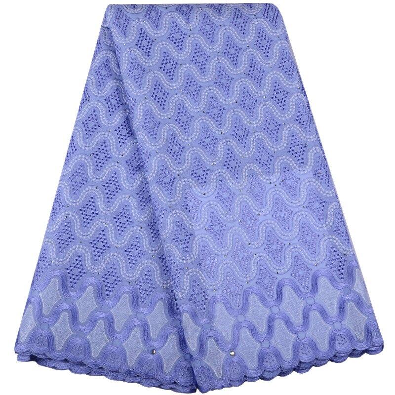 Venta caliente Nigeria tela de encaje de alta calidad gasa Suiza encaje de algodón tela de encaje africano para hombre mujer azul cielo s1523-in encaje from Hogar y Mascotas    1