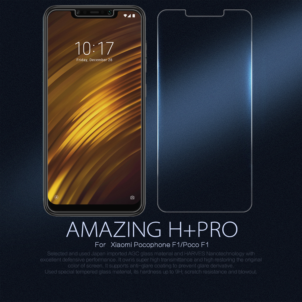 For Xiaomi Pocophone F1 Glass Nillkin Amazing H/H+Pro Anti-Explosion Tempered Glass Screen Protector For xiaomi poco F1 CoverFor Xiaomi Pocophone F1 Glass Nillkin Amazing H/H+Pro Anti-Explosion Tempered Glass Screen Protector For xiaomi poco F1 Cover
