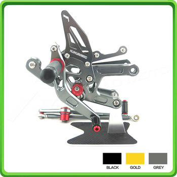 Adjustable Rear Sets Rearset Footrest Foot Rest Pegs fit for Yamaha R6 YZF-R6 2006 2007 2008 2009 2010 2011 2012 2013 2014 Gray