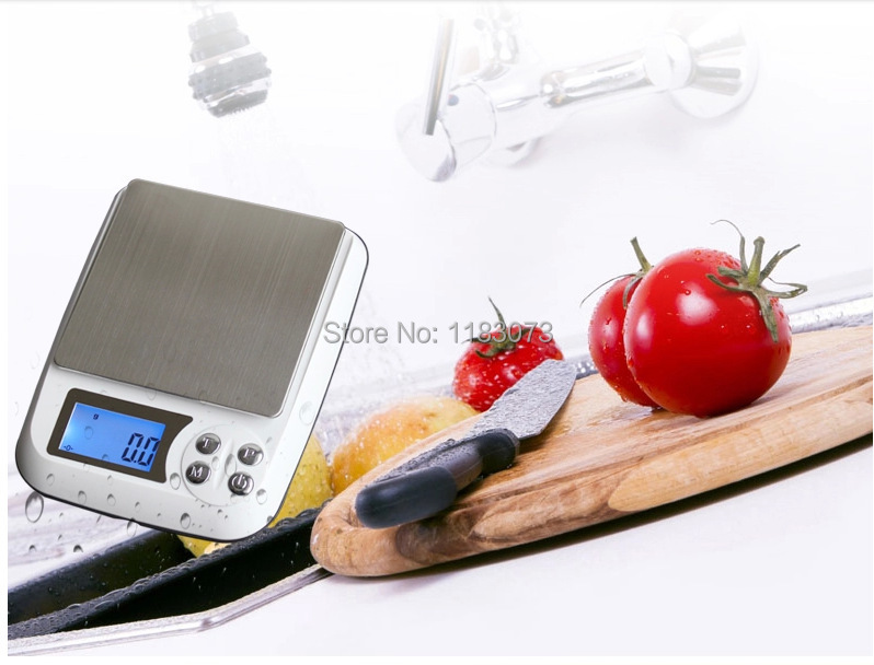 3kg Electronic Kitchen Scales 3000g 0.1g Digital LCD Stainless Steel Table Scale Food Weighing Balance Cookie Tools With Tray