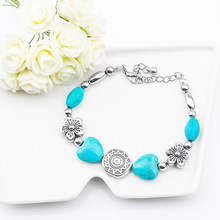 H:HYDE Fashion jewelry Bohemia stylish nice flower Natural Stone Beads charming Bracelet Handmade Accessories(China)