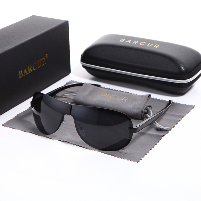 1afb01b64e4 BARCUR Male Sunglasses Rimless for Men glasses Brand Designer with High  Quality Rimless Sunglasses Black Metal Retro Sun glasses