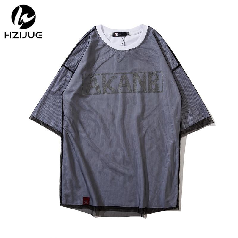 HZIJUE 100% Cotton T Shirt Mens 2018 Summer Skateboard Tee Boy Hip hop Skate Tshirt Tops wholesale fashion brand street T-shirts