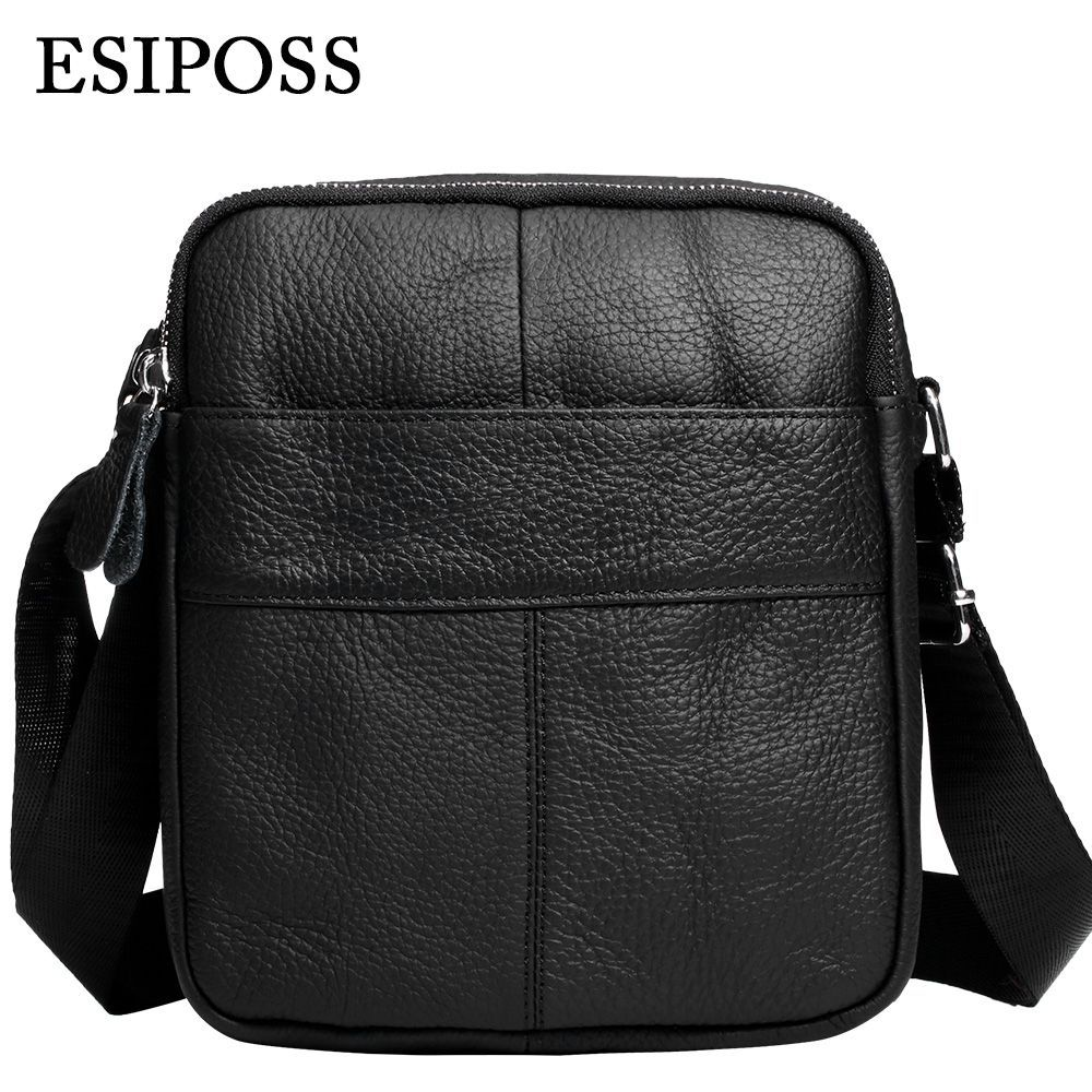 ESIPOSS Real Leather Men Crossbody Bags 2016 New Fashion Men Messenger Bags Vintage Casual Men Soft