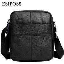 ESIPOSS Echt Leder Männer Crossbody Taschen 2016 New Fashion Men Messenger Bags Vintage Lässig Männer Weiche Leder Schwarz Umhängetaschen