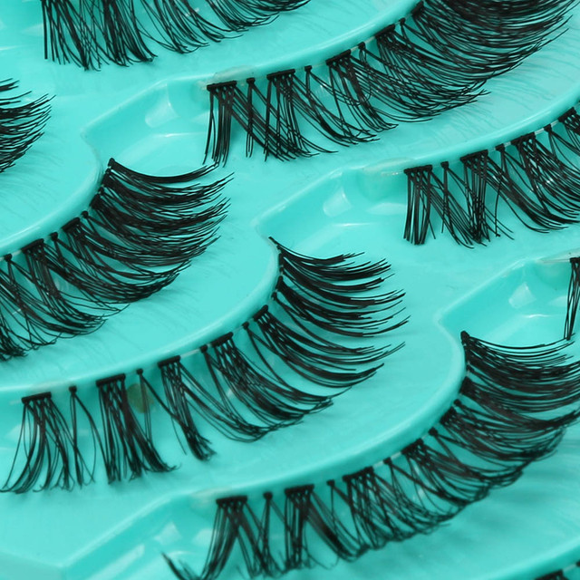 3d cílios vison Grande venda! 5 par/lote Cruzam Cílios Postiços Cílios Eye Lashes Volumosa Quente pesta como postizas pelo naturais