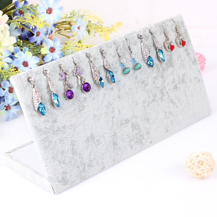 Velvet Earring Display Gray Jewelry Organizer Soft Necklace Rack Black Holder Storage Of Ornaments A114 In Packaging From