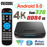 MECOOL KM9 Android 9 TV Box Smart TV Box Android 9.0 4G DDR4 32G 64G ROM 2.4G/5G WiFi + KM9 TV Box Android 8.1 Voice Control