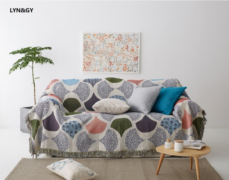 Us 15 98 50 Off Mermaid Chenille Sofa Blanket Cover Decorative Slipcover Throws On Bed Plane Travel Plaids Sching Blankets Towel In