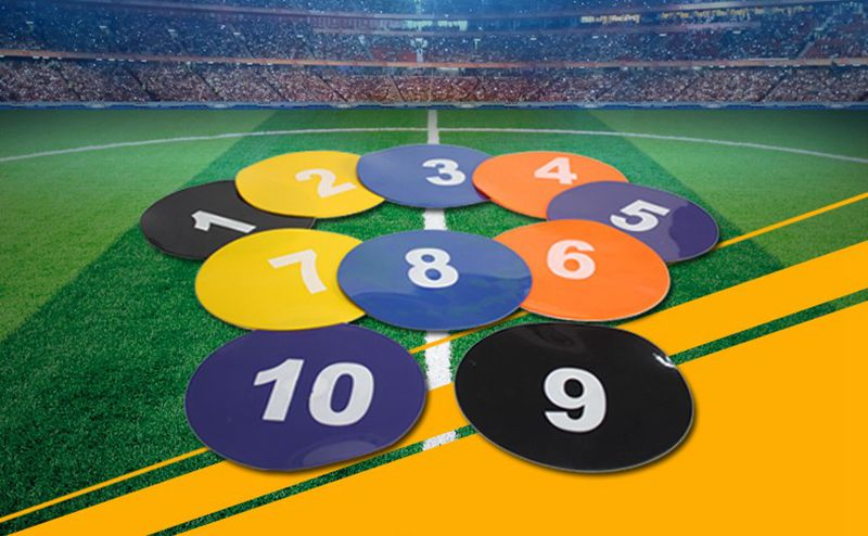 Offre spéciale! Disque de Football numéro 1-10 Rugby vitesse entraînement cône piste espace marqueur plein air Sport patinage Cross plat disques de Football