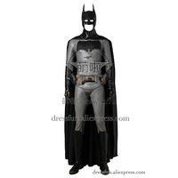 Batman v Superman: Dawn of Justice Batman Bruce Wayne Cosplay Costume with Cape Cloak Black Halloween Party Fast Shipping