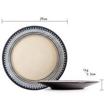 Creative Western food market Porcelain dinner set ceramic Dinner plate salad Steak Dish