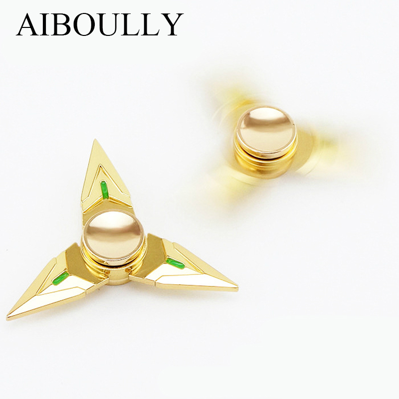 Luxury gold color Long s fidget spinner Genji Rotate exceed 2minute New type Game around hand