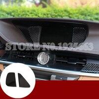 For Lexus ES 250 300h Carbon Fiber Dashboard GPS Navigation Cover 2013 2017 2pcs