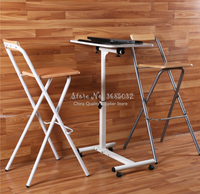 Modern Bar Stools Folding High Formal Dinning Chairs Home Simple Portable Thickening Adult Chair