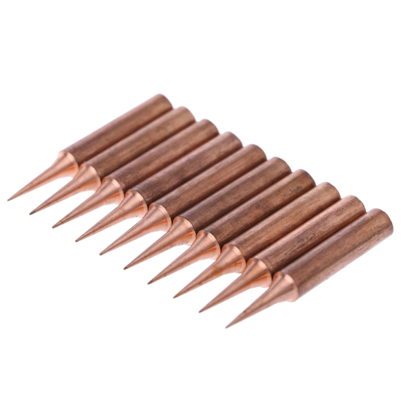 10Pcs Copper Solder Screwdriver Iron Tips Soldering Welding Head 900M-T-I Lead Free Solder Iron Tips new arrival 10pcs 900m t soldering tip pure copper electric iron head series solder tool hot sale