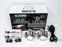 3.0HQT 3.0 inch Double Angel Eye HID Bixenon Xenon Projector Lens LHD RHD H1 H7 H4 HB3 HB4 9004 9007 Headlight+2pcs AC Ballast