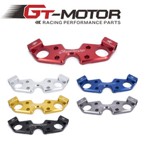 Gt motor FREE SHIPPING black gold red blue For SUZUKI GSXR1300 2008 2009 2010 2015 Lowering Triple Front End Upper Top Clamp